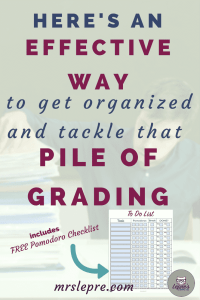 Here's a Quick Way to get organized and tackle that pile of grading | teaching | teacher | first year teacher | grade faster | grading tips