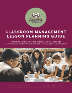 lesson plans | lesson planning | classroom management | student behavior | how to plan a lesson