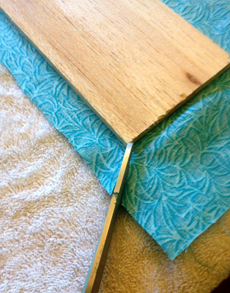 Applying Fabric to Balsa wood for window treatment