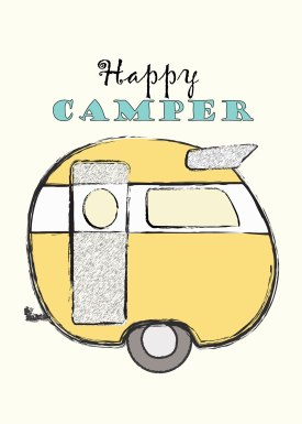 Happy Camper 5x7 Free Happy Camper Printable: MrsPadillysTravels.com