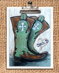 Cowgirl Up - Mrs. Padilly - Stenciling