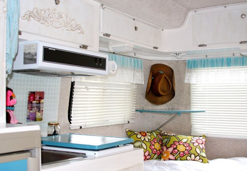 Completed Interior Makeover of Mrs. Padilly's Casita Travel Trailer