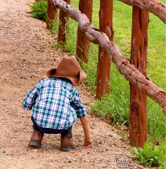 Pint Size Buckaroo Cowboy in Texas