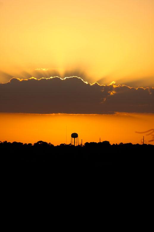 Sunset from Fehrs Overlook Shelter