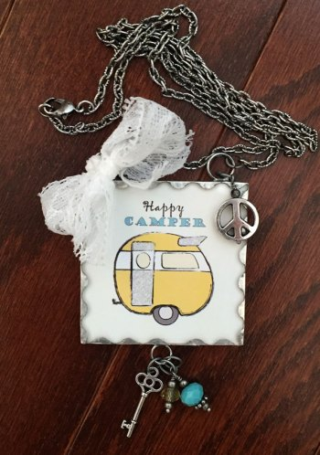 Happy Camper Necklace by KlayZ Kreations