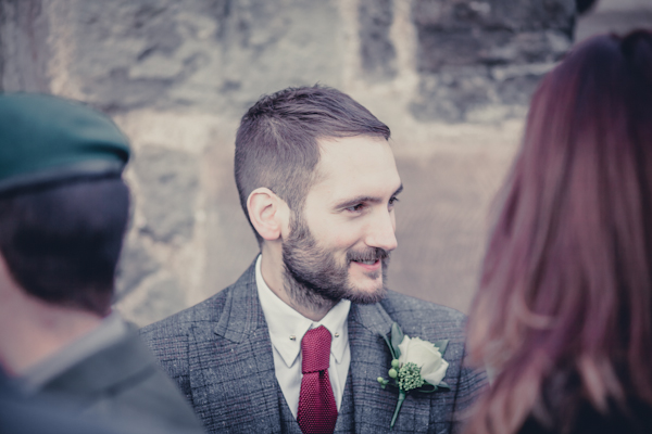 Winter wedding,  Vintage wedding, DIY Wedding,  groom, buttonhole, mark pugh photography