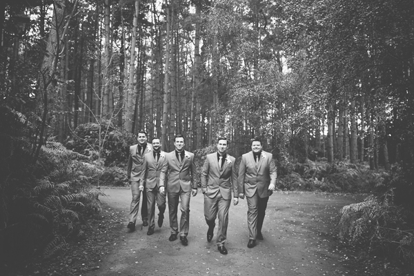 key reflections photography, groom and groomsmen, forest
