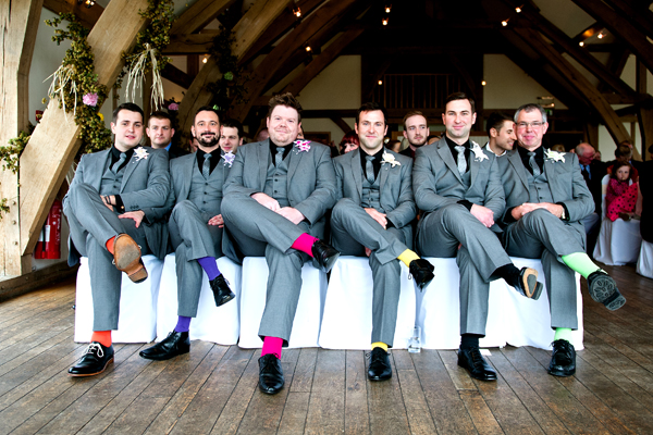 key reflections photography, groom and groomsmen in colourful socks