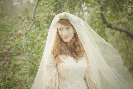 The Hannah Veil, Dream Veils, 1970's pattern she had sourced. It is two veils sewn together and a circular shape sewn into it made specifically for a coronet to be placed over.
