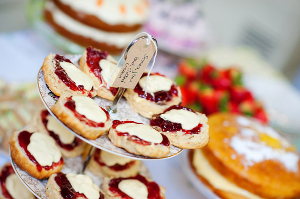 Emma & Dan wedding by Neil Redfern photography, cake table, cake stand, tea and cake wedding reception