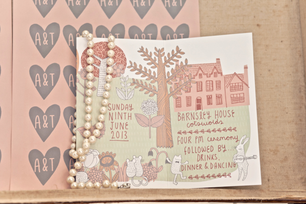 Karen Massey Photography, wedding stationery, pearl necklace, order of the day