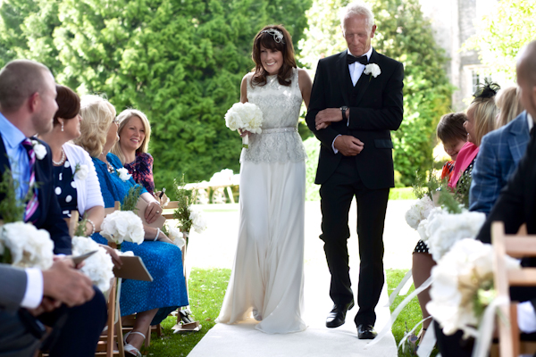 Karen Massey Photography, bride and her pops, coming down the aisle, wedding ceremony