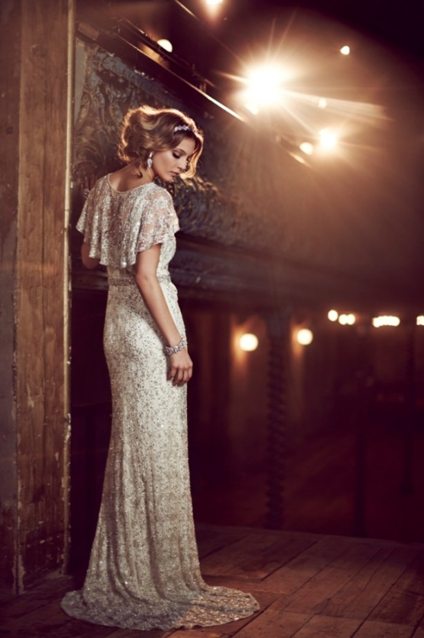 """8"" Bridal Collection, Phase Eight, hermoine dress,  lace wedding dress delicately embellished with silver lined beads and sequins for a luxurious vintage feel."