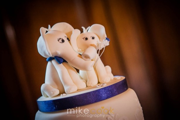 dalhousie castle, elephant wedding cake topper, mike cook photography