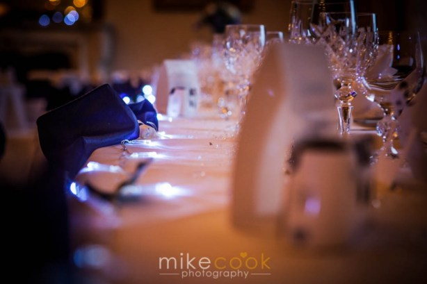 mike cook photography, wedding table settings, dalhousie castle