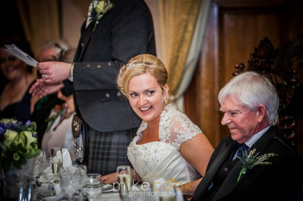mike cook photography, wedding speeches, groom speech, dalhousie castle