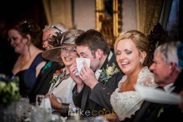 mike cook photography, wedding speeches, dalhousie castle