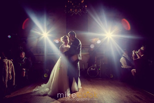 bride and groom first dance, mike cook photography