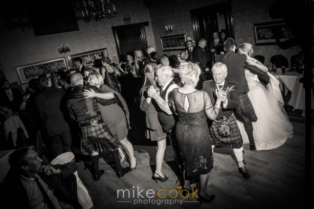 dahousie castle, evening wedding reception, dancing, mike cook photography
