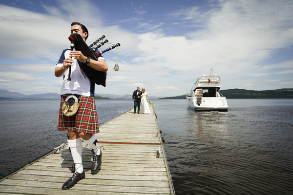 fraser porteous piper, loch lomond, silver photography