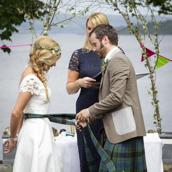 outdoor wedding ceremony, the cruin, silver photography