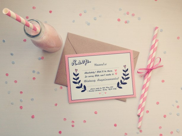 RSVP - The Strawberry Shake Collection, Best Day Ever, Wedding Stationery
