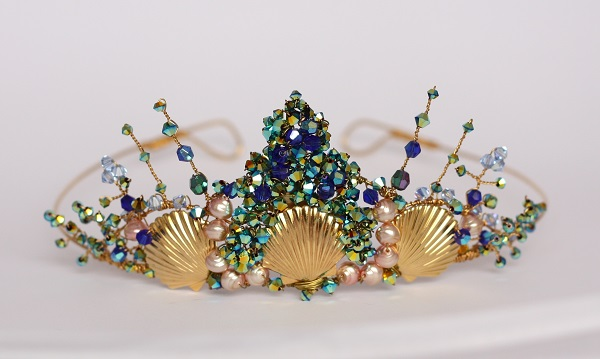 Samantha Walden,  Mermaid tiara, Historically inspired headdresses. vintage tiara, historically inspired tiaras