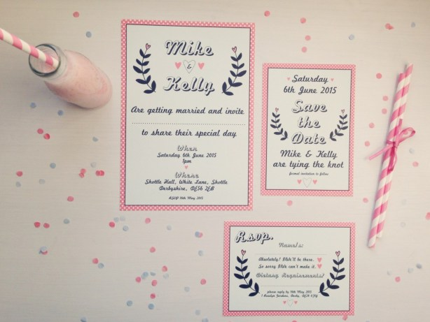 The Strawberry Shake Collection, Best Day Ever Wedding Stationery, MrsPandP's Sunday Morning Cuppa, Wedding Blog Catch Up