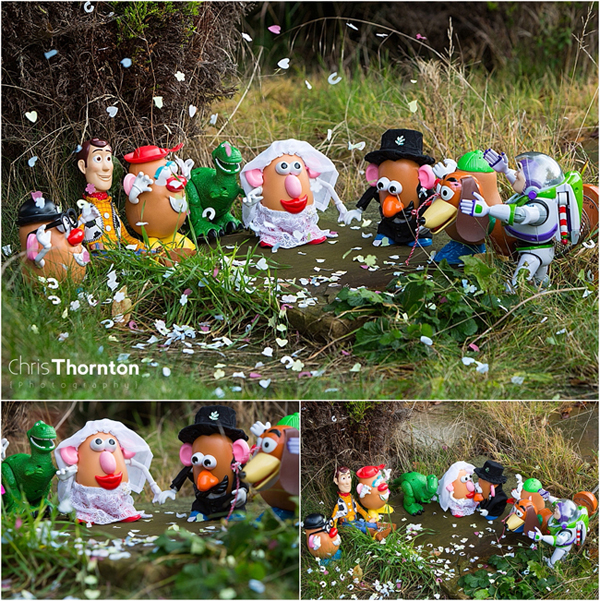 Mr Potatohead wedding, Ellen Degeneres, Metro newspaper, Daily Mail newspaper, huffpost weddings, Wedding of Mr and Mrs Potato Head, leeds wedding photographer, chris thornton phtography, the wedding ceremony