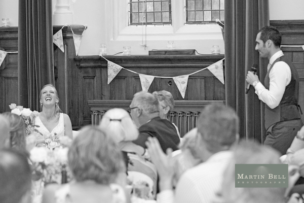 speech, bunting, Winchester wedding photography, Martin Bell Photography,