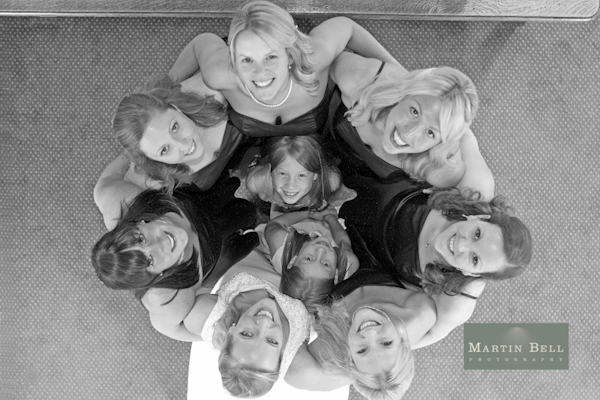 bride and bridesmaids, Winchester wedding photography, Martin Bell Photography,