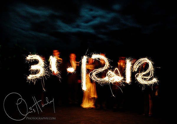 chris hanley photography, winter wedding , new year sparklers date, brampton house, new years eve wedding