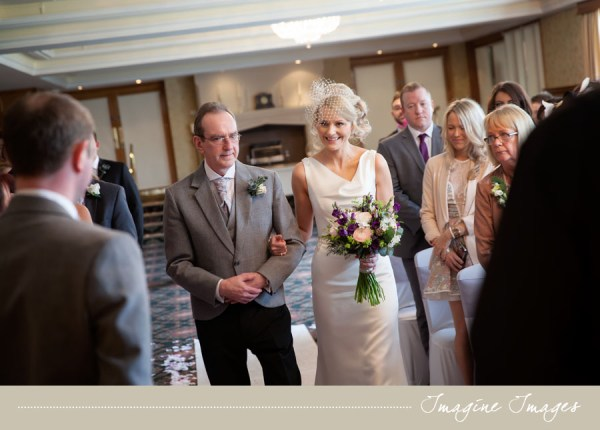 bridal processional, wedding ceremony, imagine images, lochgreen house