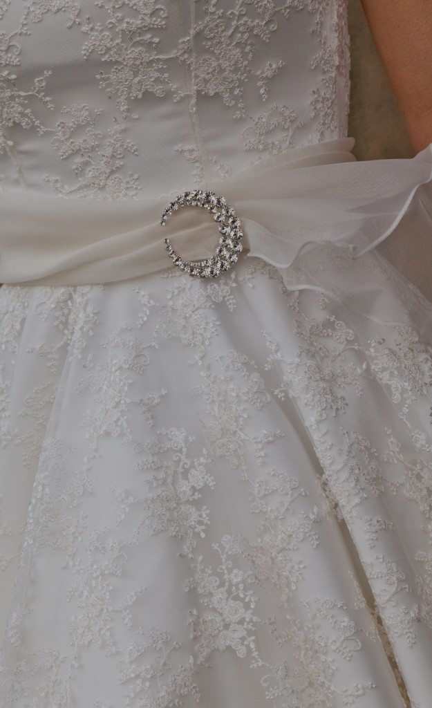 Amy  - Love & Romance Collection - Qiana Bridal (waist detail)