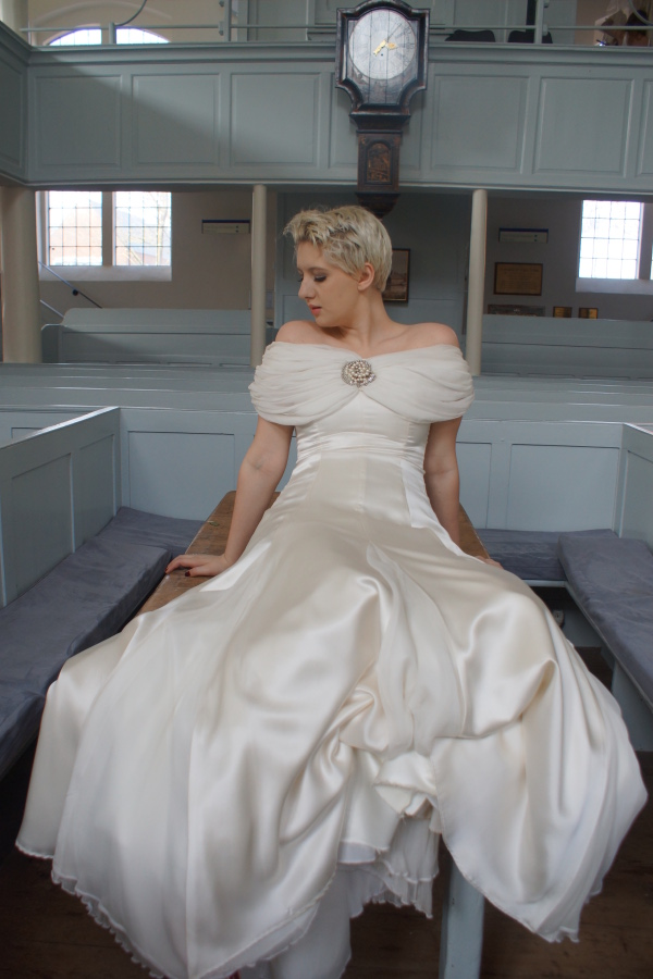 Frances gown, vintage styled bridal gowns, calm amongst the chaos