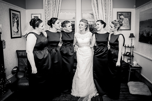 bride and bridesmaids, wilson mcsheffrey photo