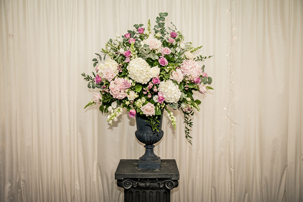 wedding reception arrangement, mood flowers, catrnbooth house hotel, wilson mcsheffrey photo