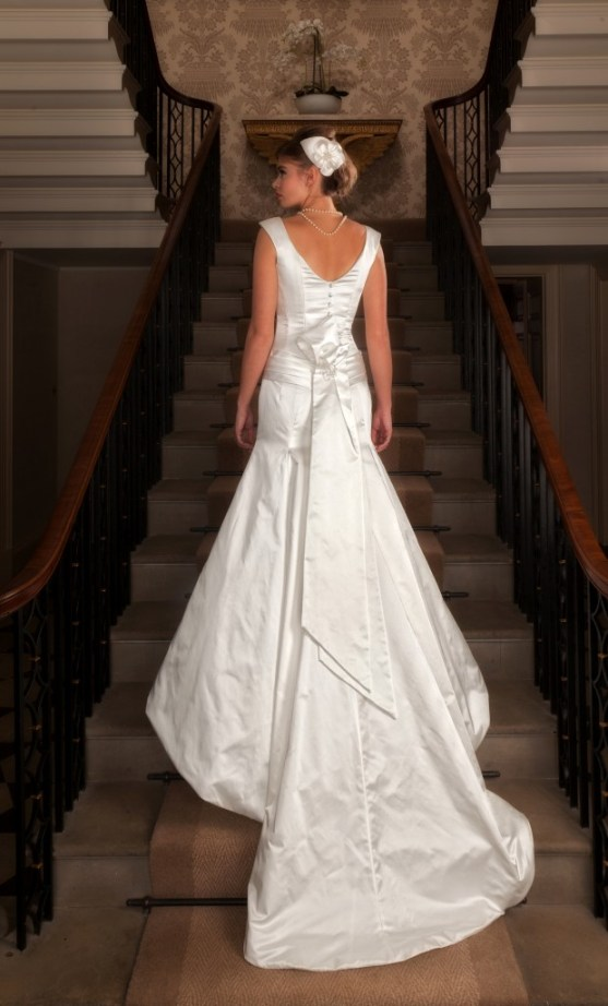 Nerrisa  - Love & Romance Collection - Qiana Bridal (back)