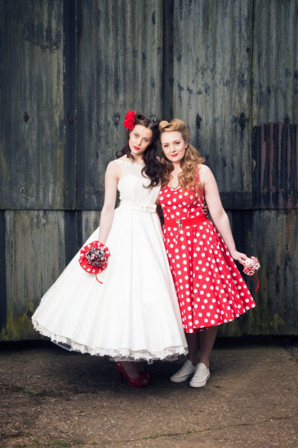 rockabilly shoot, Hand crafted alternative bouquets, Bride as a Button ,  Image by Alter Ego portraits