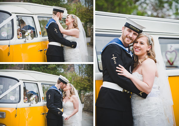 Cloud9 Wedding Photography, nay groom, vw camper van hire  shropshire