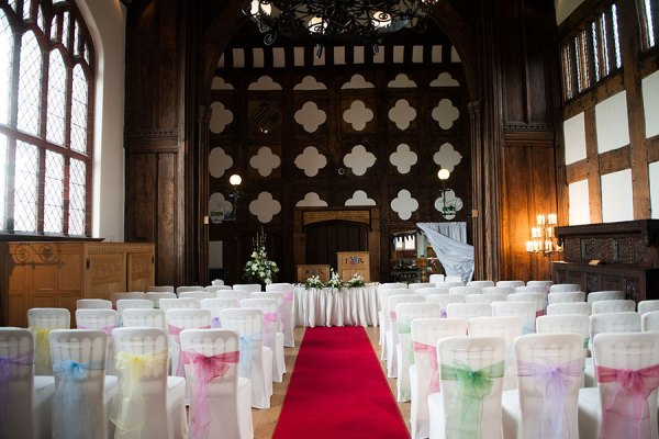 ordsall hall, perfect weddings manchester, chair ties, georgina harrison photo