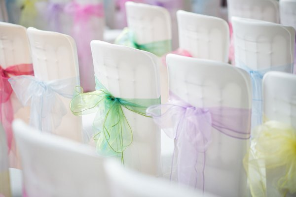 pastel chair tie backs, georgina harrison photo , perfect weddings manchester