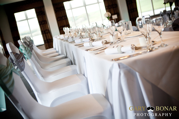 top table, lochside house hotel, gary bonar photo , tiffany blue colour scheme