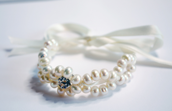 twist pearl bracelet, susan dick jewellery, bridal accessories