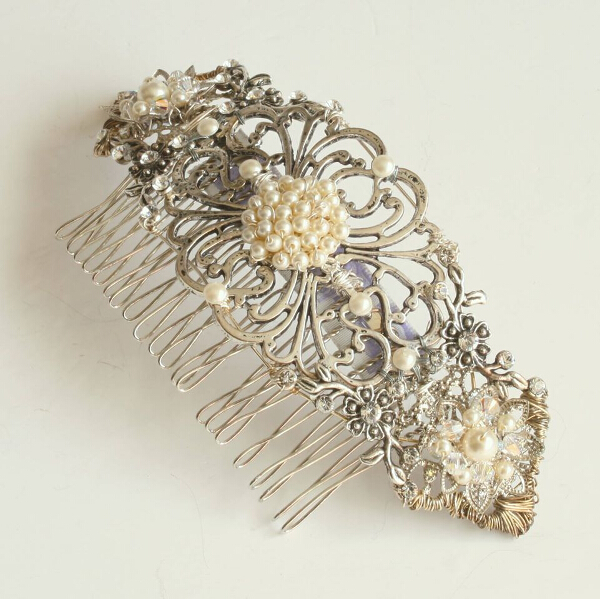 www.FlorioDesigns.co.uk, Vintage Style comb