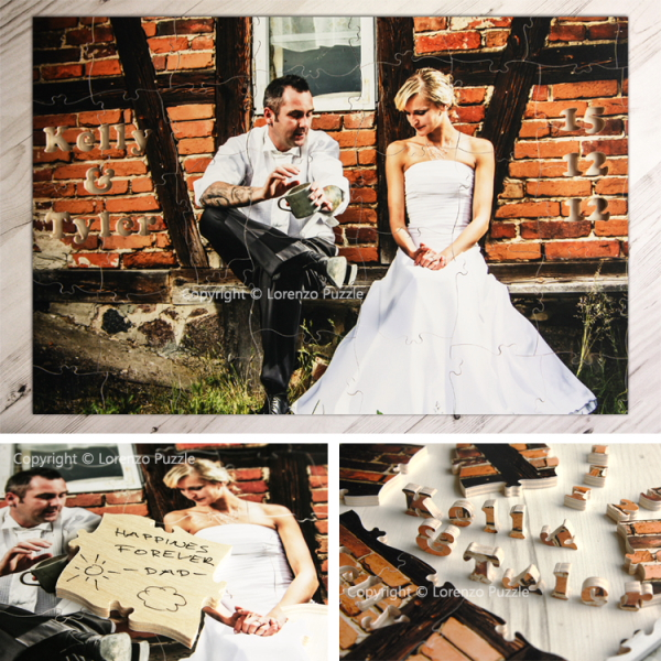 Maple_Guestbook_Puzzle,  wedding jigsaw puzzle, Lorenzo puzzle, jigsaw puzzle