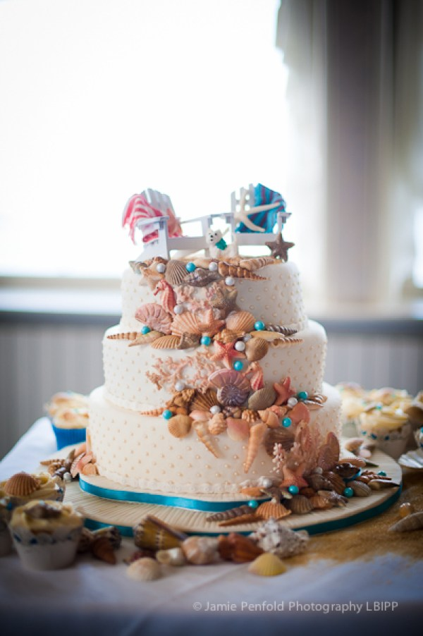 © jamie penfold photography 2014 - www.memoriesandemotions.co.uk, beach wedding theme, beach wedding theme cake