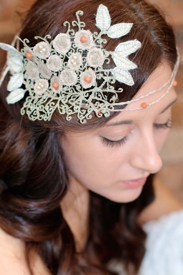 Blossom headpiece , kate slater lace, contemporary lace