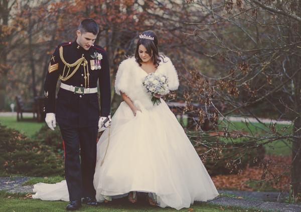 Fine Art Wedding Photography, MP Media,  winter wedding, military wedding