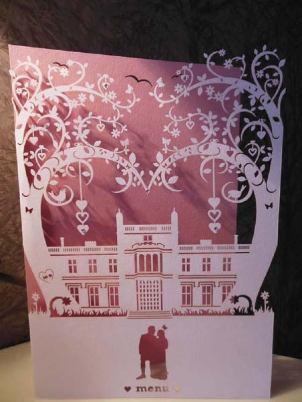 Illustrative wedding stationery, laser cut wedding stationery,  The Butterfly and the Belljar